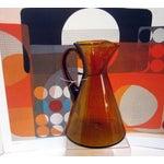 Image of Modernist Amber Blenko Glass Vase Pitcher