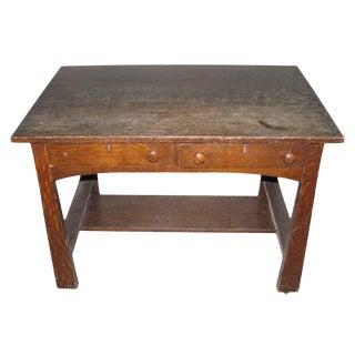 Tiger Oak Arts & Crafts Desk
