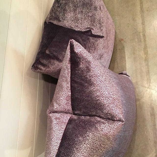 Image of Romo Italian Velvet Pillows - A Pair