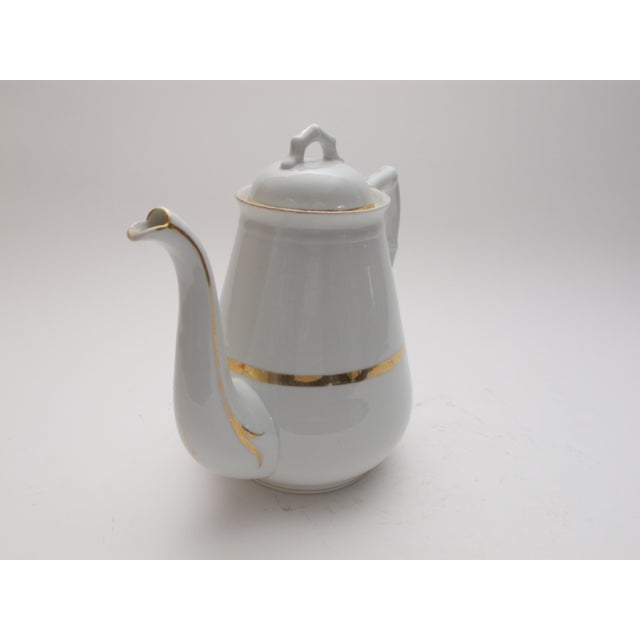 Wedding Band China Antique Coffee Pot C. 1890s - Image 5 of 5