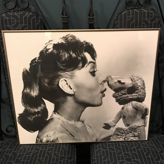 Image of Vintage Television Publicity Photograph of Shari Lewis and LampChop