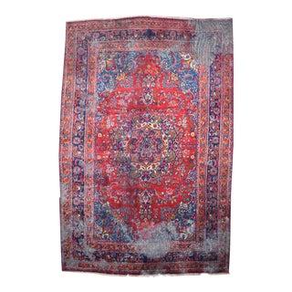 Vintage Persian Heriz Wool Rug - 6′ × 9′