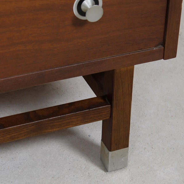 "Walnut & Rosewood Tall Chest W/ ""Radio Knob"" Pulls - Image 8 of 9"