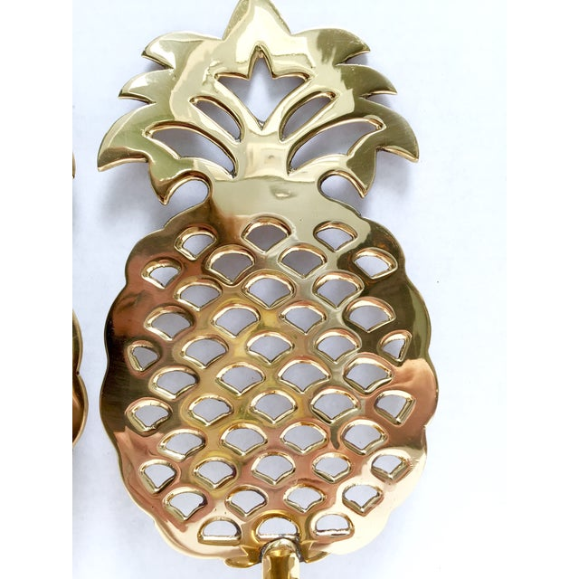 Brass Pineapple Candle Sconces - A Pair - Image 7 of 7