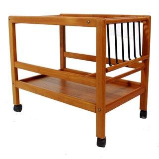 Johannes Andersen Danish Modern Teak Bar Cart