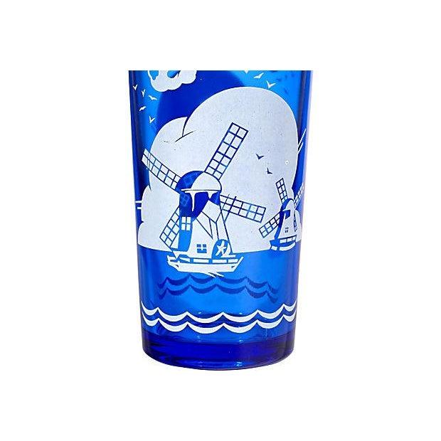Cobalt Windmill Cocktail Set - Set of 6 - Image 3 of 7