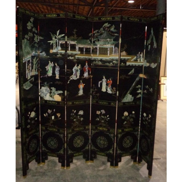 Maitland Smith Asian 6 Panel Screen - Image 3 of 5