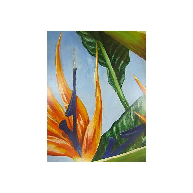 """Birds of Paradise"" Oil Painting by Sally Gelley - Image 3 of 4"