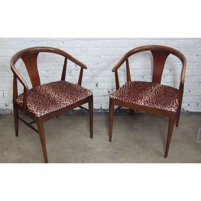 Mid-century Modern Leopard Arm Chairs - A Pair - Image 2 of 7