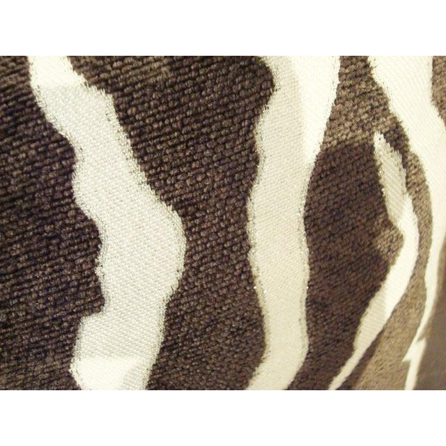 Large Chenille Plump Down Animal Print Pillow Chairish