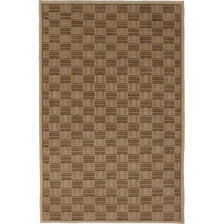 """RugsinDallas Nepalese Checkered Wool Rug - 5'1"""" X 7'10"""""""