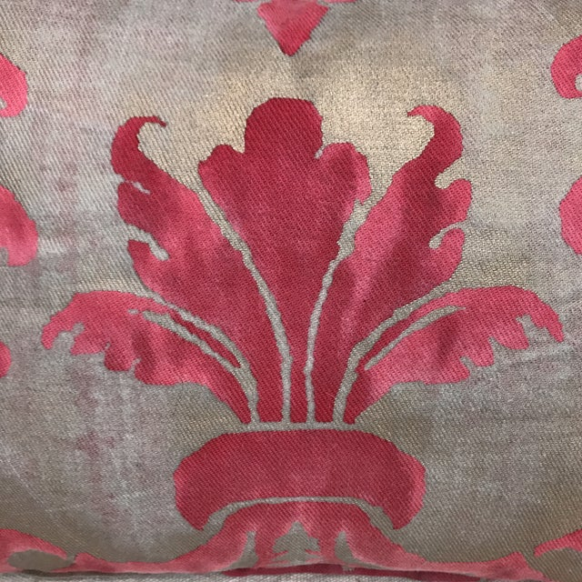 Pink & Metallic Gold Fortuny Pillow - Image 3 of 4