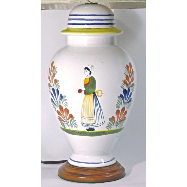 Antique French Henriot Quimper Lamp Chairish