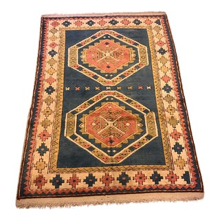 Vintage Kars Turkish Semi-Antique Rug - 4'2'' X 5'9''