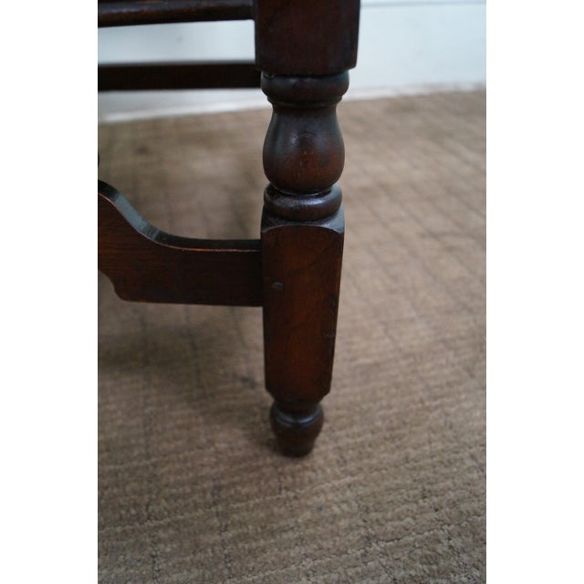 Image of Antique Solid Walnut Jacobean Style Lounge Chair