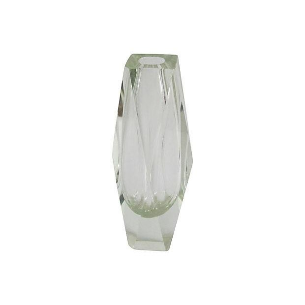 Lime Faceted Glass Vase - Image 1 of 3