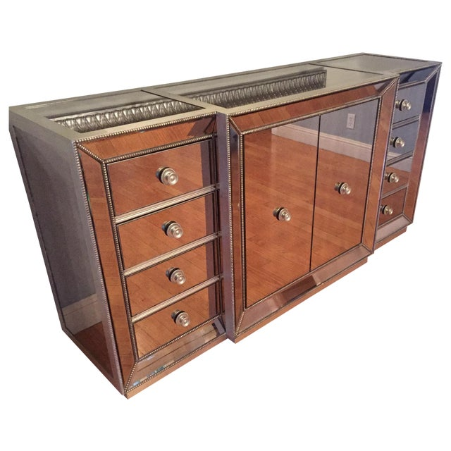 mirrored dining room dresser chairish