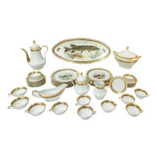 Vintage French Porcelain Dinner Set - Set of 42