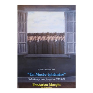1986 Original French Magritte Exhibition Poster