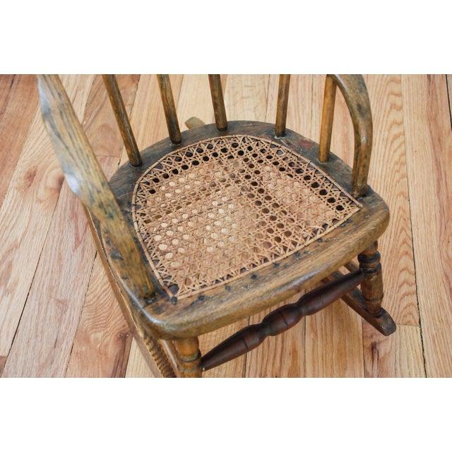 Antique Child S Bentwood Cane Rocking Chair Chairish