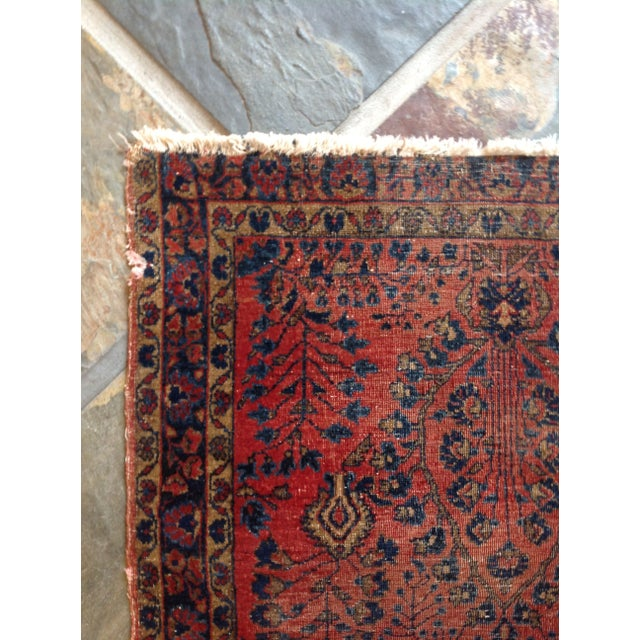 """Vintage Red Persian Rug - 2' 7"""" x 5' 10"""" - Image 4 of 5"""