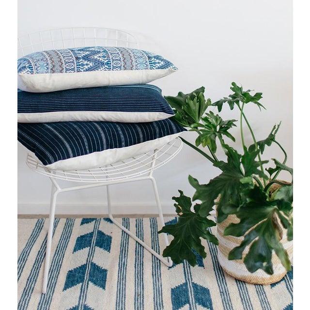 Vintage Guatemalan Indigo Pillow - Image 7 of 7