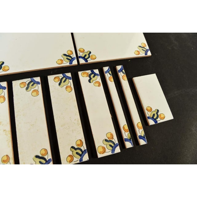 Mid-Century Porcelain Spanish Tiles - Set of 33 - Image 4 of 5