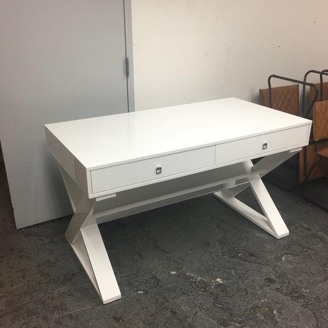 Z Gallerie White Jett Desk Chairish