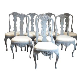 Set of Eight Rococo Style Dining Chairs (#23-03)