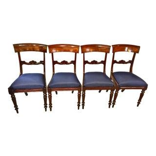 English Regency Mahogany Dining Chairs - Set of 4