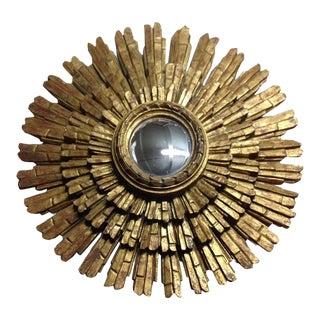 Italian Gold Giltwood Sunburst Mirror