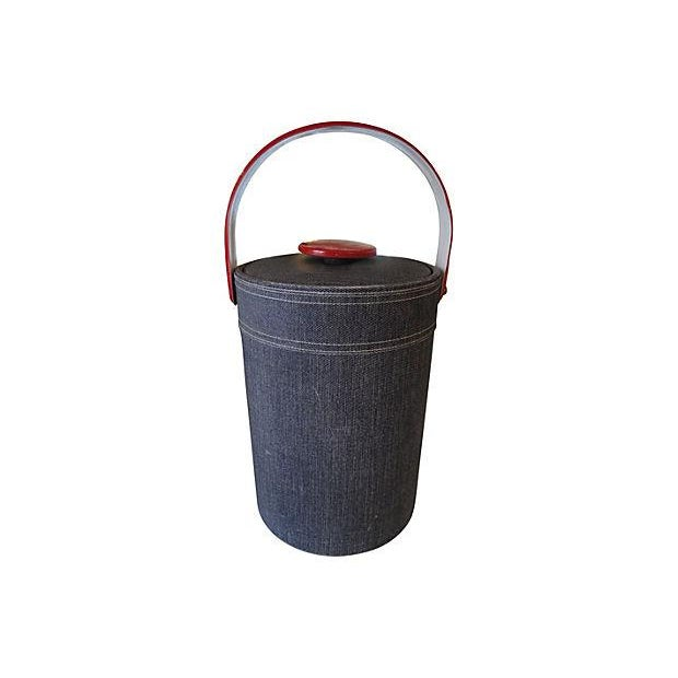 Image of Georges Briard Faux Denim Ice Bucket
