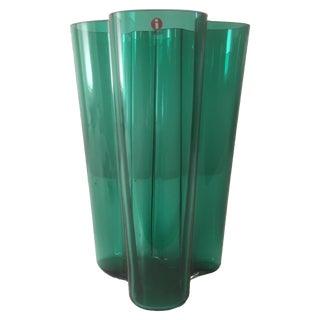 Iittala Emerald Green Glass Aalto Vase