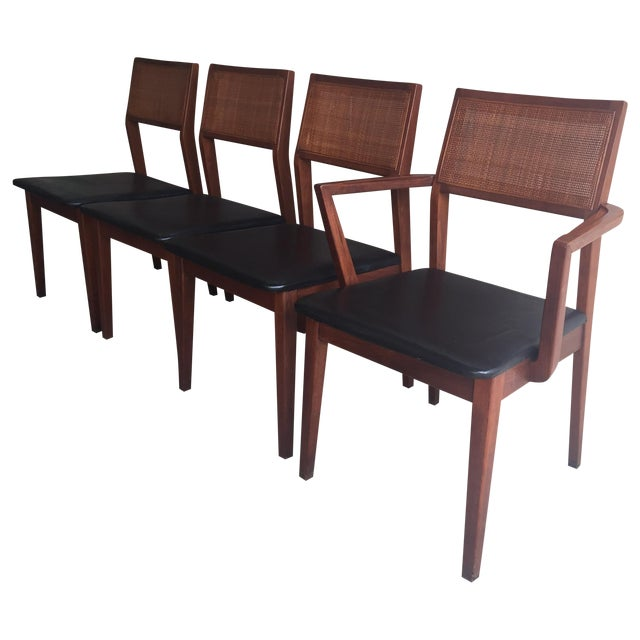 Mid-Century Walnut Dining Chairs - Set of 4 - Image 1 of 7
