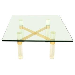 Karl Springer Lucite Coffee Table Base