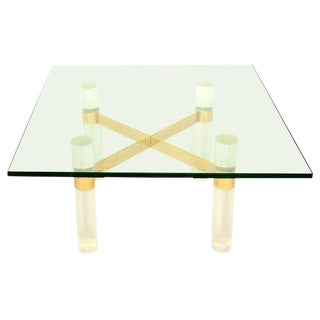 Karl Springer Lucite Coffee Table Base