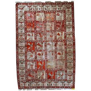 Vintage Persian Sumak Silk Kilim - 4′1″ × 6′