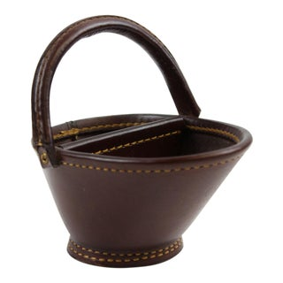 Brown Leather Pipe Bucket