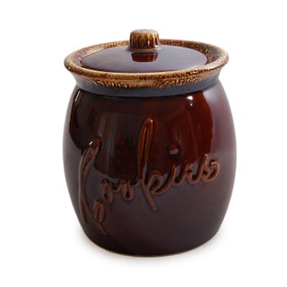 Hull Brown Drip Glaze Cookie Jar