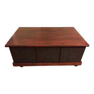 Industrial Reclaimed Wood Top Coffee Table