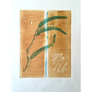 Mid Century Modern Abstract Etching