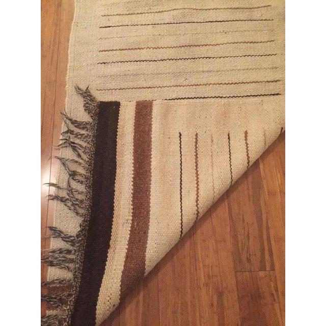 Vintage Moroccan Hand Woven Flatweave Rug - Image 6 of 8