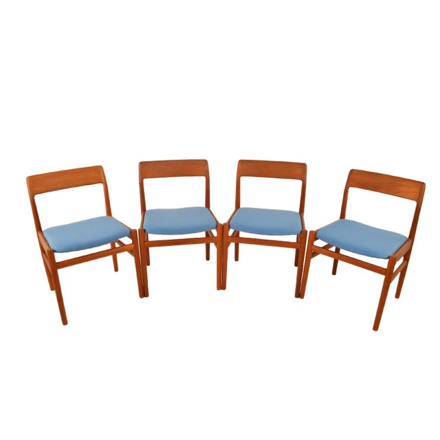 Mid Century Teak Dining Chairs - Set of 4 - Image 2 of 6