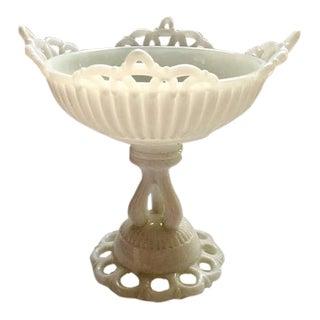 Mid Century Milk Glass Compote