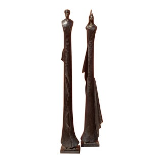 North African Sculptures, Giacometti Style - Pair