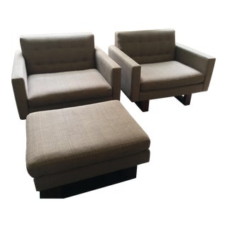 Room & Board Custom Wells Chairs & Ottoman - Set of 3