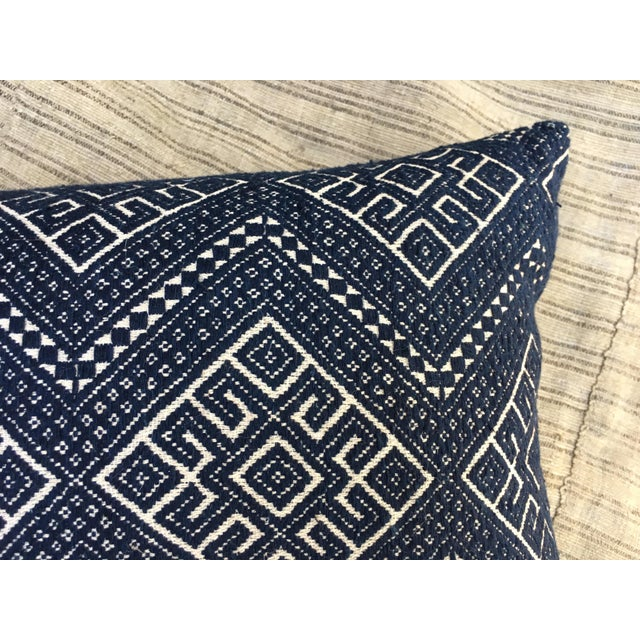 Antique Hand Woven Wedding Quilt Pillow - Image 5 of 6