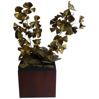 Signed Friedle Metal Wildflower Sculpture
