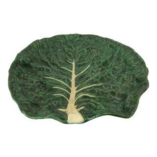 Vintage Portugese Green Leaf Platter