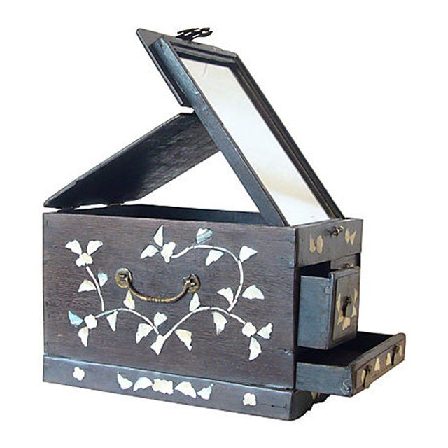 Antique Mother of Pearl Inlay Jewelry Box - Image 1 of 6